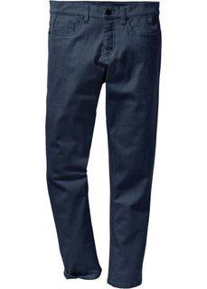 Прямые брюки-стретч прилегающего кроя (темно-синий) Bonprix
