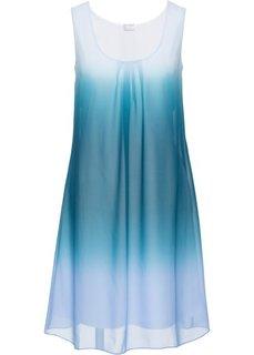 Шифоновое платье (голубой батик/сине-зеленый) Bonprix