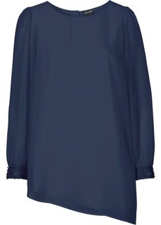 Шифоновая блузка (темно-синий) Bonprix