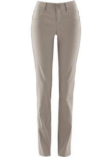 Прямые брюки стретч (серо-коричневый) Bonprix