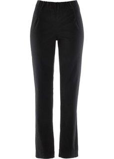 Прямые брюки стретч без застежки, cредний рост (N) (черный НОВИНКА) Bonprix