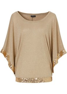 Пуловер (золотистый) Bonprix