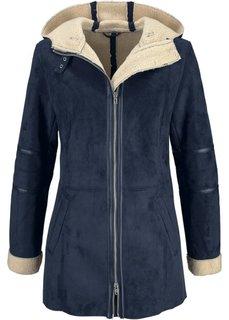 Удлиненная куртка (темно-синий) Bonprix