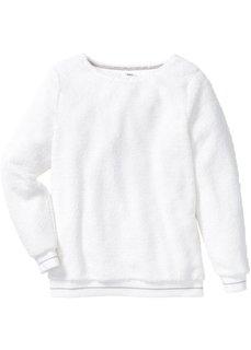 Футболка из плюшевого флиса (цвет белой шерсти/серебристый матовый) Bonprix