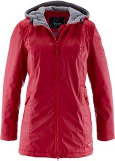 Демисезонная удлиненная куртка (красный) Bonprix