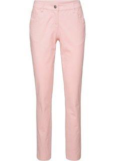 Брюки-стретч Straight (жемчужно-розовый) Bonprix