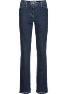 Формирующие джинсы-стретч STRAIGHT, низкий рост (K) (темно-синий) Bonprix