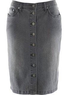 Джинсовая юбка (серый) Bonprix