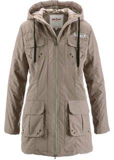 Куртка на легкой ватной подкладке (серо-коричневый) Bonprix