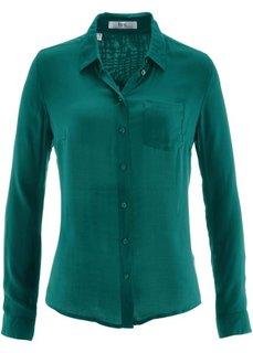 Рубашка с длинным рукавом (зеленый) Bonprix
