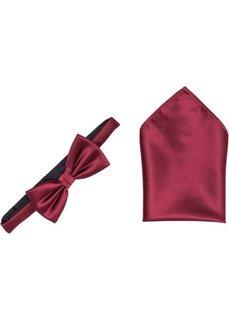 Комплект: бабочка и платок (бордовый) Bonprix