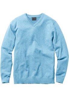 Пуловер Regular Fit с V-образным вырезом (нежно-голубой) Bonprix