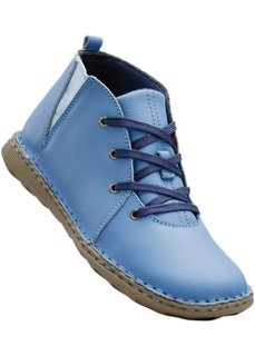Кожаные ботинки (синий лед/темно-синий) Bonprix