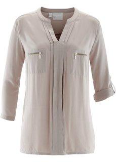 Блузка с воротником-стойкой (натуральный камень) Bonprix