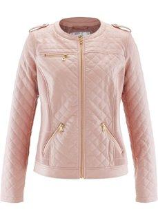 Куртка из искусственной кожи со стегаными швами (розовый) Bonprix