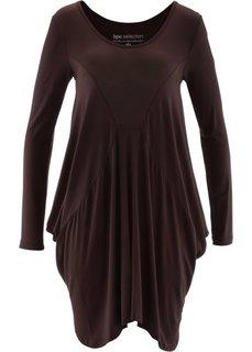 Удлиненная футболка (темно-коричневый) Bonprix