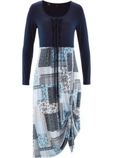 Платье с длинным рукавом (темно-синий) Bonprix