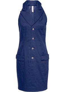 Платье на пуговицах (ночная синь) Bonprix