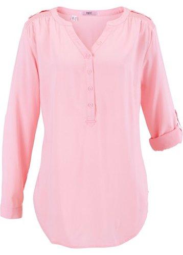 Туника с длинным рукавом (розовая пудра)