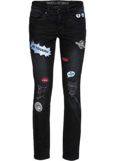 Стрейтчевые джинсы-дудочки Marcell von Berlin for bonprix (черный)
