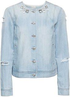 Джинсовая куртка со стразами (нежно-голубой деним) Bonprix