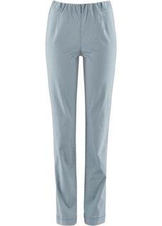 Прямые брюки стретч без застежки, низкий рост (K) (серебристо-серый) Bonprix