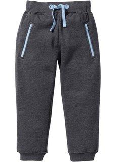 Трикотажные брюки с карманами на молнии (антрацитовый меланж) Bonprix