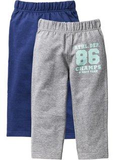 Трикотажные брюки (2 шт.) (ночная синь + светло-серый меланж) Bonprix