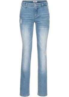 Прямые стретчевые джинсы, высокий рост (L) (голубой) Bonprix