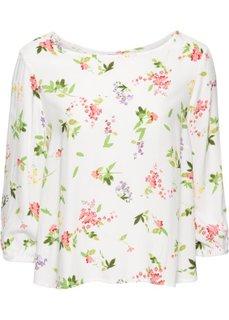 Блузка (цвет белой шерсти в цветочек) Bonprix