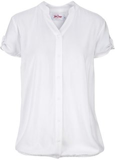 Блузка с коротким рукавом (белый) Bonprix