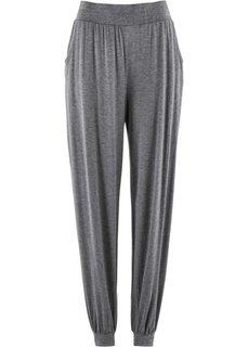Трикотажные брюки-шаровары (серый меланж) Bonprix