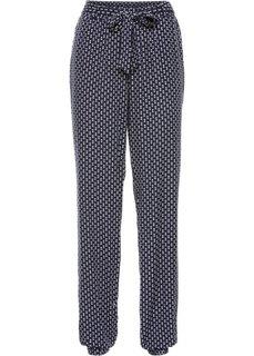 Широкие брюки (синий с рисунком) Bonprix