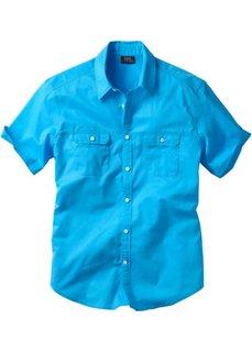 Рубашка Regular Fit с короткими рукавами (бирюзовый) Bonprix