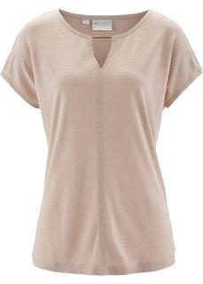 Шелковая футболка (бежевый матовый) Bonprix