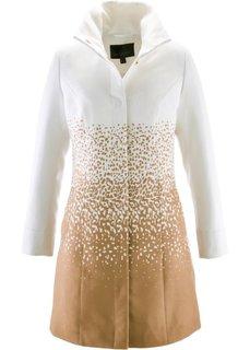 Пальто с воротником-стойкой (цвет белой шерсти/кофе-глясе) Bonprix
