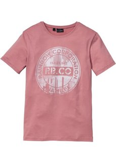 Футболка Slim Fit (розовый) Bonprix