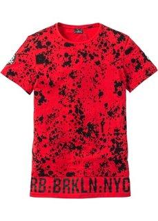 Длинная футболка Regular Fit (красный) Bonprix