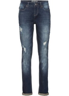 Стрейчевые джинсы, низкий рост (K) (темно-синий) Bonprix