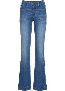 Широкие стретчевые джинсы, cредний рост (N) (голубой) Bonprix