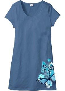 Ночная сорочка (синий джинсовый с принтом) Bonprix