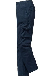 Легкие брюки-карго Regular Fit Straight, cредний рост (N) (темно-синий) Bonprix
