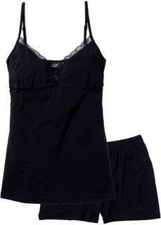 Пижама (черный) Bonprix