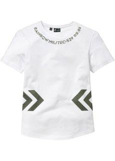 Длинная футболка Regular Fit (белый) Bonprix