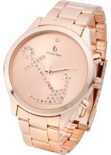 Часы на металлическом браслете Якорь (розово-золотистый) Bonprix