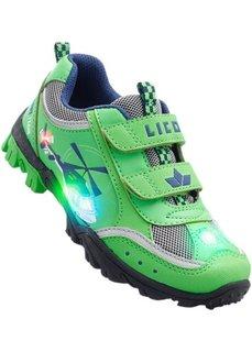 Кроссовки с мигалками марки Lico (зеленый/темно-синий) Bonprix