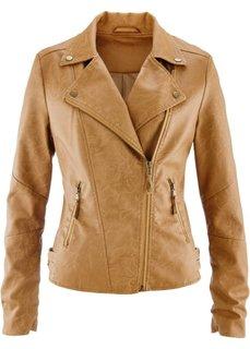 Куртка-косуха из искусственной кожи (коньячный) Bonprix