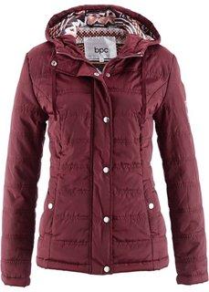 Стеганая куртка с капюшоном (кленово-красный) Bonprix