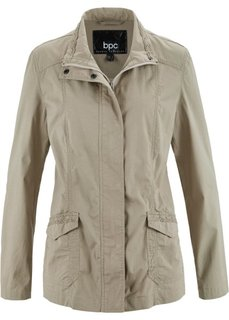 Легкая куртка-парка с кружевной отделкой (камышово-бежевый) Bonprix