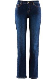 Стройнящие джинсы стретч, высокий рост L (темно-синий «потертый») Bonprix